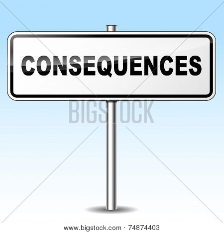 Consequences Sign