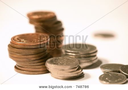 5D0458 stack of coins