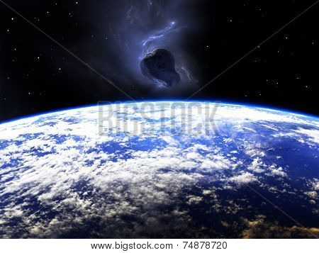 Huge Asteroid Flying Around The Earth