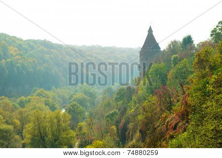 Potter Tower in the Ancient City of Kamyanets-Podilsky, Ukraine