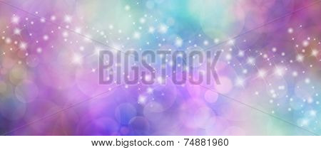 Beautiful multicolored bokeh sparkly website header