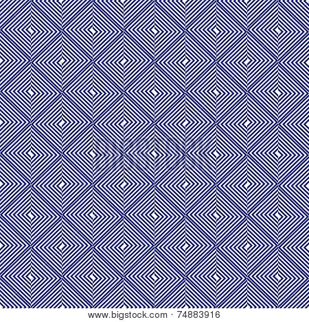 Abstract Seamless Pattern with Destroyed Rhombus. Vector Background