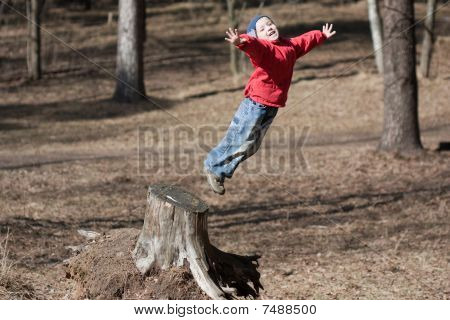 Little Child Jumping