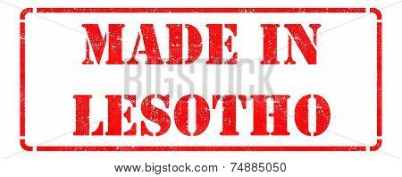 Made in Lesotho on Rubber Stamp.