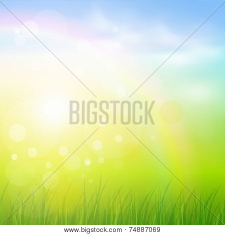 Natural sunny background.