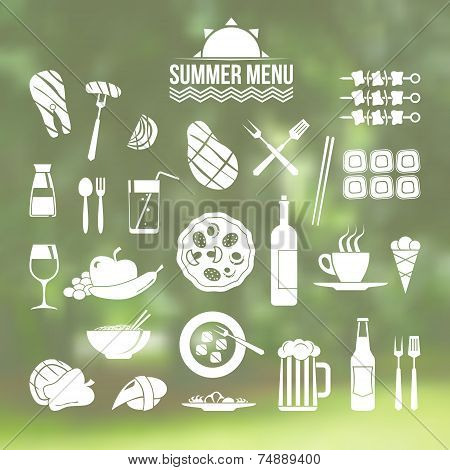Icon Set Summer Menu
