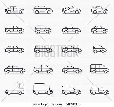 Car Body Types Icons