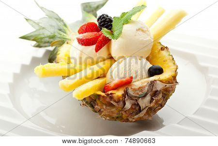 ice with fruits