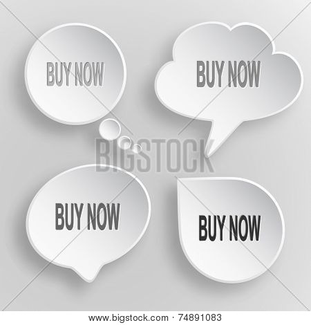 Buy now. White flat raster buttons on gray background.