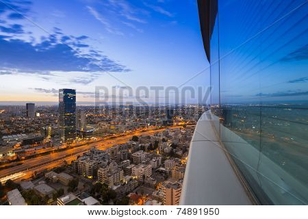 Tel Aviv city - View of Tel Aviv at sunset