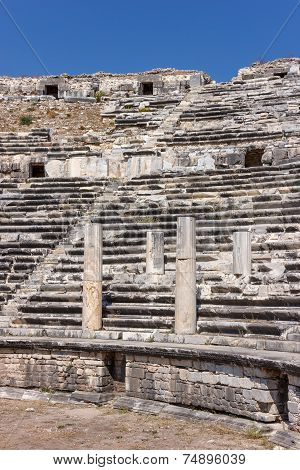 Seats In Amphitheater In Miletus