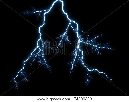 Generic lightning on black background