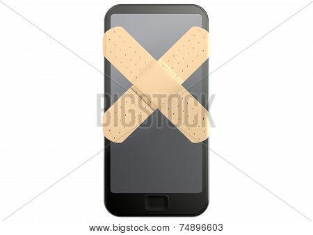 Generic Smart Phone With Band Aids