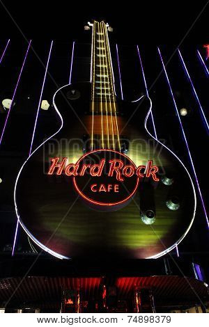Las Vegas Hard Rock Cafe Sign
