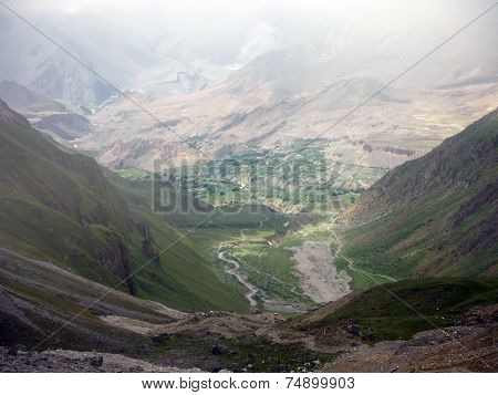 Green Area Around Muktinath During Monsoon