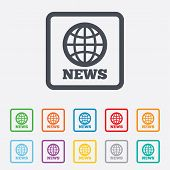 foto of universal sign  - News sign icon - JPG
