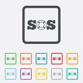 pic of sos  - SOS sign icon - JPG