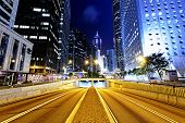 pic of hong kong bridge  - Modern city traffic night - JPG