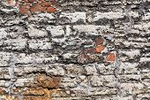 image of stonewalled  - Antique natural stonewall of an old fortress - JPG