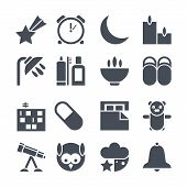 picture of douching  - Icons set deep sleep - JPG