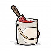 stock photo of paint pot  - cartoon paint pot - JPG