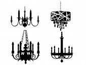 picture of edwardian  - Set of Chandelier Silhouettes - JPG