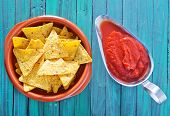 pic of chipotle  - corn chips in a bowl and sauce - JPG