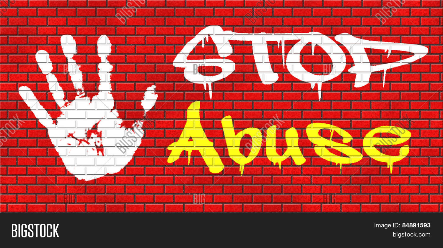 Grafiti wall red - Stop Abuse Child Protection Prevention From Domestic Violence And Neglection End Abusing Children Graffiti On Red