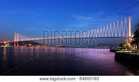 Bosphorus Bridge At Night