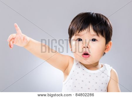 Baby with finger point to front