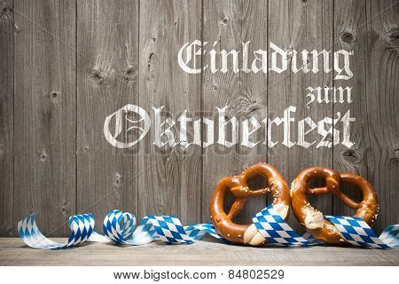 Oktoberfest german beer festival template background. Einladung zum Oktoberfest