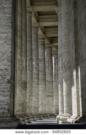 Roman columns, beautiful walkway