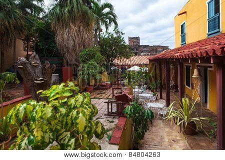 beautiful old patio in the Trinidad