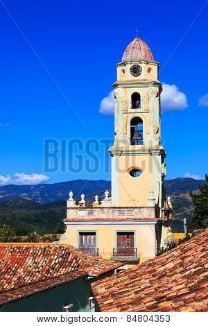 old beautiful church in Trinidad in the sky
