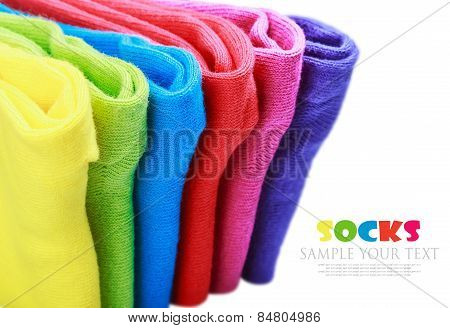 Colorful Socks Isolated