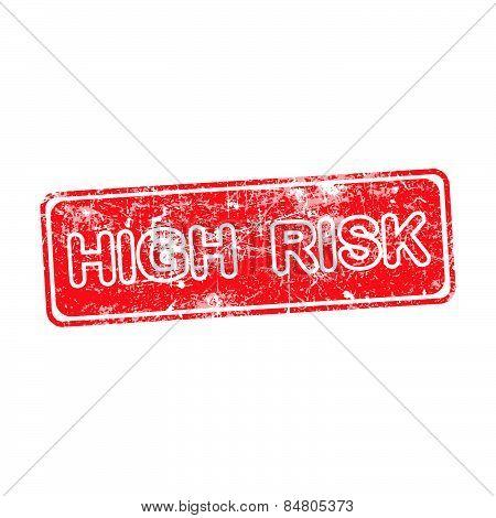High Risk Red Grunge Rubber Stamp Vector Illustration
