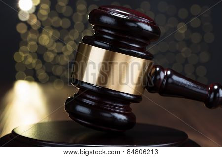 Close-up Of Gavel