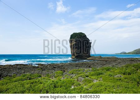 Rocky Coast along the Pacific Ocean, Kenting, Taiwan