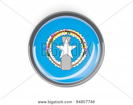 Round Button With Flag Of Northern Mariana Islands