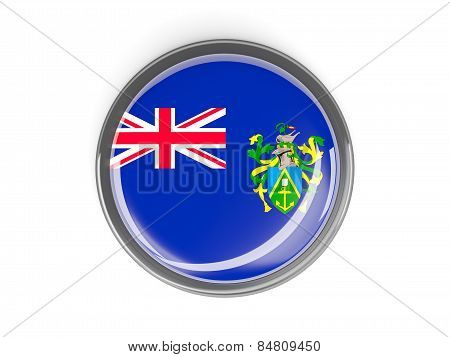 Round Button With Flag Of Pitcairn Islands