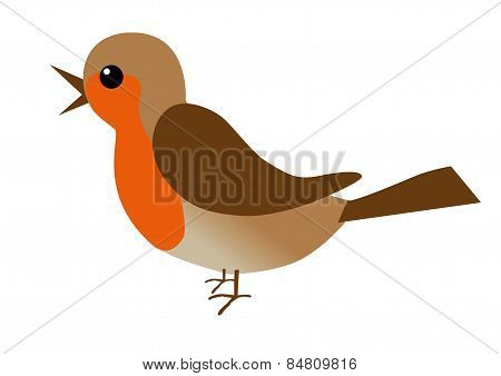 An illustration of a robin