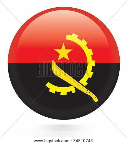 Angola flag button