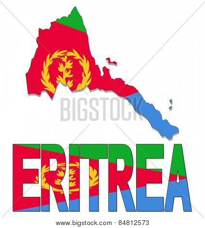 Eritrea map flag and text illustration