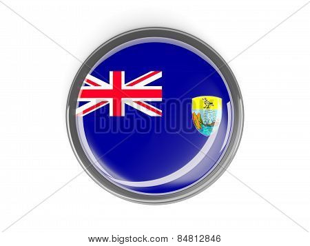 Round Button With Flag Of Saint Helena