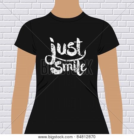 Just Smile t-shirt design
