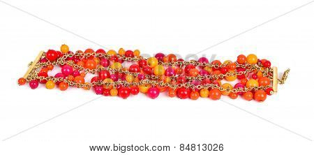 Orange And Yellow Vivd Color  Bracelet