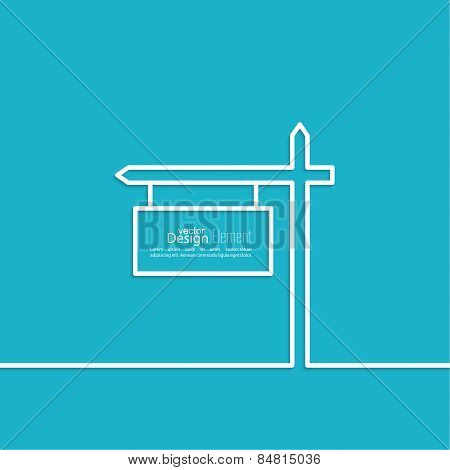 Vector abstract background with direction arrow sign