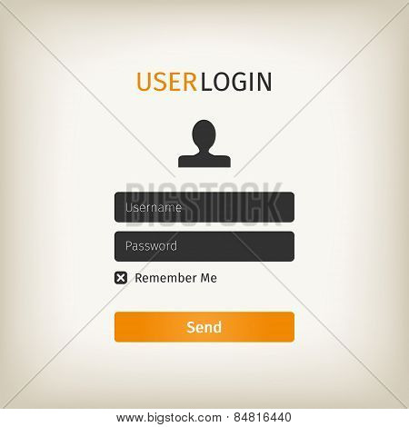 Orange User Login Page