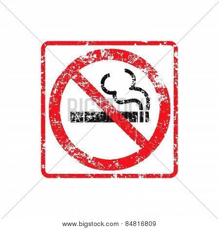 No Smoking Grunge Rubber Stamp On White Background, Vector Illustration