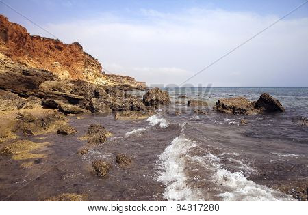 Sea Coast In The Ebb